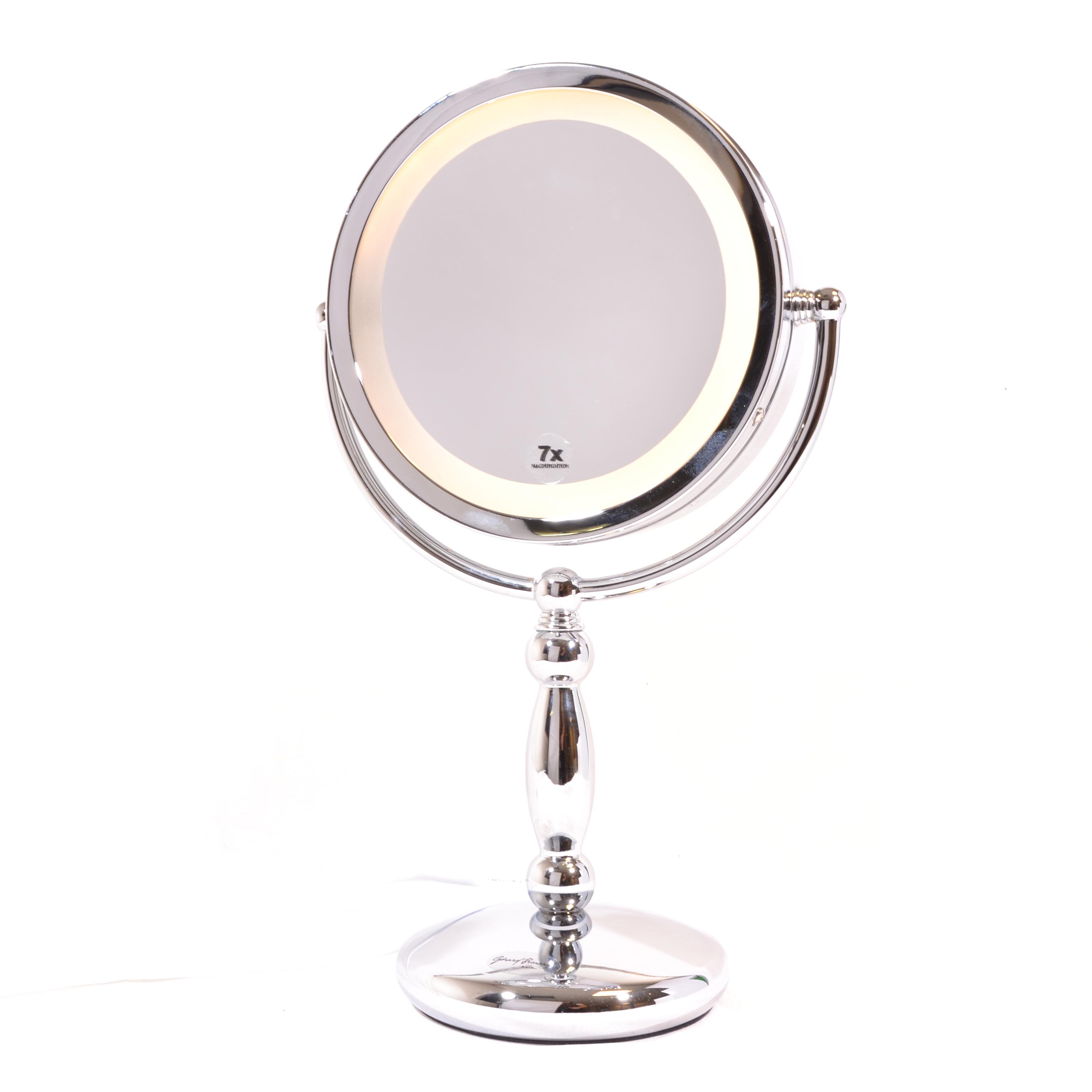 Make-up Spiegel 2-zijdig verlicht Ø17cm/5x vergroting - Eurocompact ...