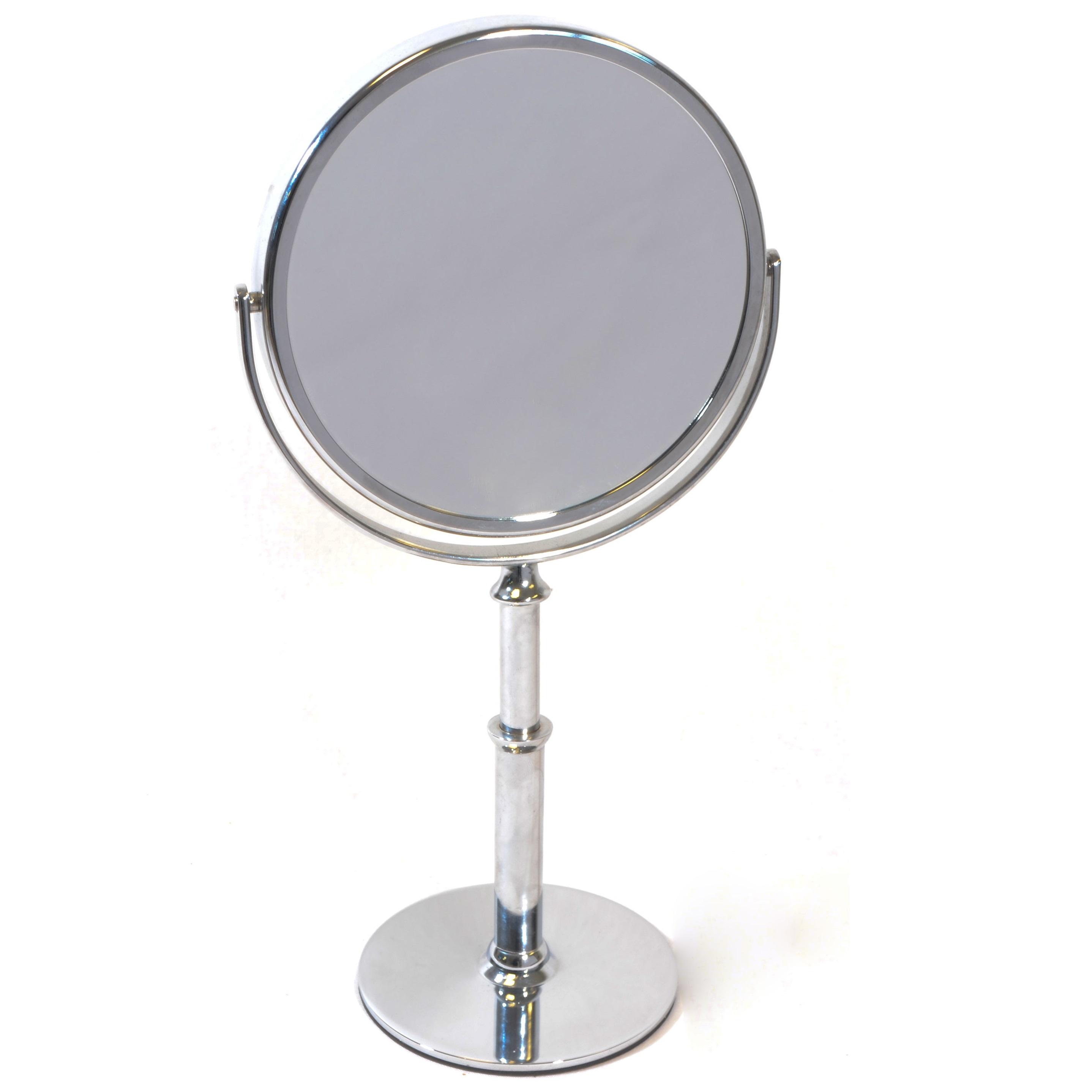 staande hand make up spiegel zilver vergroting 5x 7x of. Black Bedroom Furniture Sets. Home Design Ideas