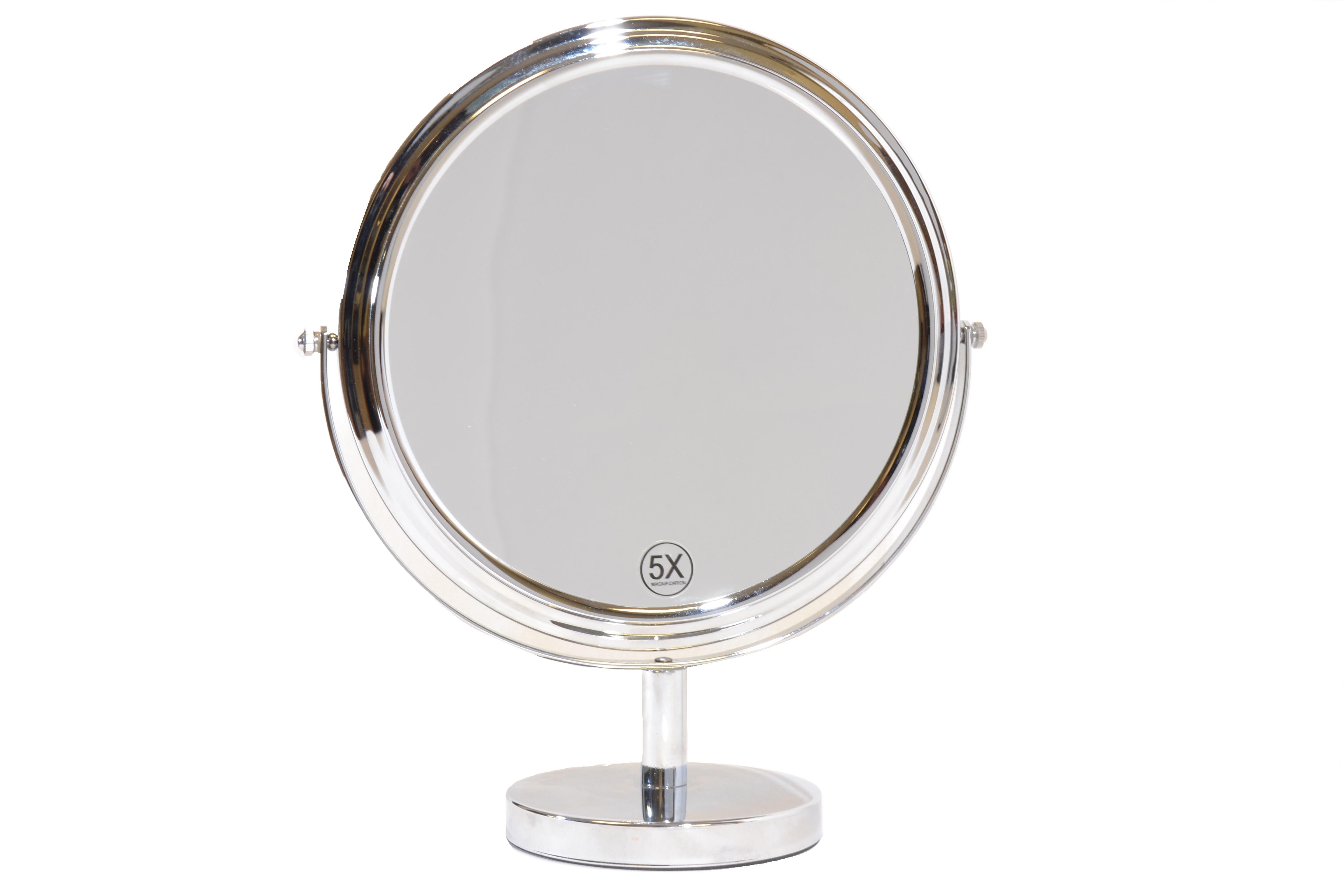 Vergrotende Spiegel Badkamer : Zilveren spiegel Ø27cm 5x vergroting eurocompact van den brink b.v.